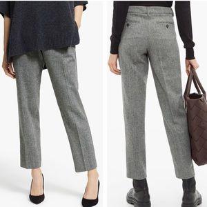 MaxMara Campale Trousers Herringbone Wool Pants 10